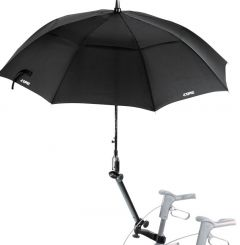 Umbrella / parasol, black, with attachment